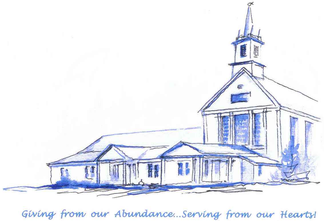 Watercolor of NUMC by Rev. Dick Yerrington